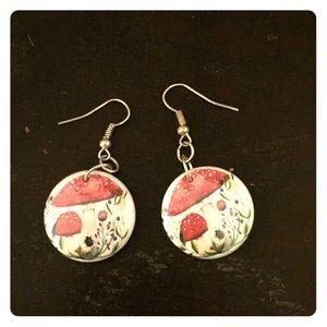 Jewelry - funny mushroom earrings